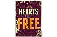 冷蔵庫用マグネット Fridge Magnet Retro Hearts run free