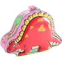 貯金箱ブリキの恐竜型コインバンク子供用貯金箱男の子女の子幼児お金の管理誕生日プレゼントギフト好意1pcランダムカラー