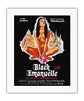 ブラックエマニュエルinバンコク - エキゾチックな官能感 - ビンテージなフィルム映画のポスター c.1976 - キャンバスアート - 41cm x 51cm キャンバスアート(ロール)