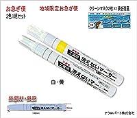 工業用消えないマーカー中・FA-KGM-1W10-02HT (お急ぎ便) (白1本・黄1本)