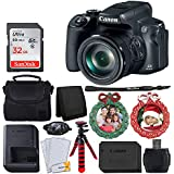 Canon PowerShot SX70 HSデジタルカメラ + 32GB SDHCメモリーカード + カメラケース + 12インチの柔軟な三脚 + 2つのリースホリデーフォトオーナメント + USBカードリーダー + ハンドカメラグリップ + カードウォレット - トップバンドル