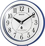 リズム時計 DAILY 掛け時計 防滴防塵 アクアパークDN ブルー 4KG711DN04