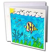 若いアーティストExpo–Tropical Fish–グリーティングカード Set of 12 Greeting Cards