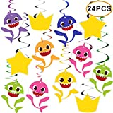 Shark Hanging Swirls Decorations Baby Birthday Party Favor Supplies