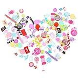 Toyvian Toyvian樹脂チャームミックスキャンディーお菓子お返しの装飾DIYアクセサリー用美術工芸品スクラップブッキング50pcs(ミックススタイル)