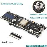 MakerHawk Nodemcu ESP8266 OLED Arduino WiFi Module 0.96 inches Display ESP8266 18650 5-12V 500mA Compatible with NodeMCU