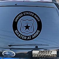 米国海軍でマスター腕Military車デカールステッカービニールPickサイズカラーDie Cut No背景 16'' (40.6cm) ブラック 20180314s19