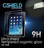 【日本正規代理店品】Gshield 強化ガラス 液晶保護フィルム iPad Air Air2用強化保護フィルム ガラスフィルム 衝撃吸収 硬度9H 液晶保護シール 気泡ゼロ カッターでも傷つかない 日本語説明書付き 30日間返金保証