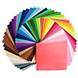 44枚 サイズが選べる カット フェルト 生地 アクリル系繊維 厚さ1mm 不織布 クラフトフェルトマットDIY用 44色セット(10×10cm)