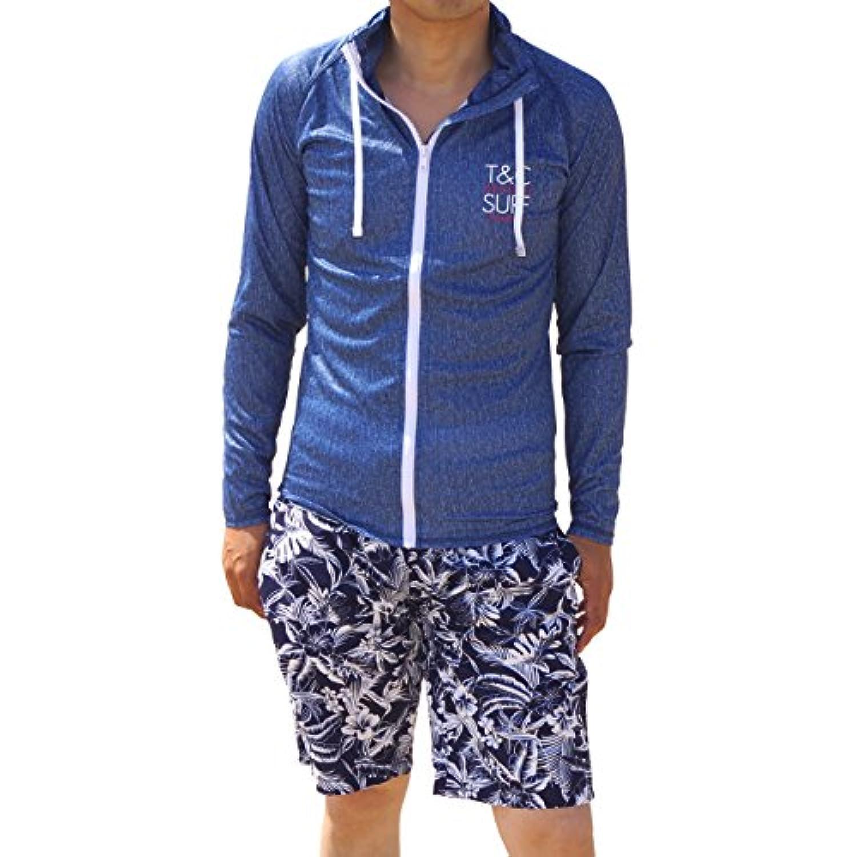 ラッシュガード メンズ T&C Surf Designs タウン&カントリー デザイン タウカン 長袖 フルジップ 水着 UVブロック 紫外線防止 日焼け防止 リゾート 海外旅行 大きいサイズ 837104