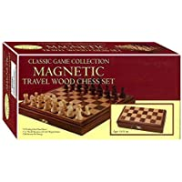 8-inch Travel Magnetic Wood Chess Set