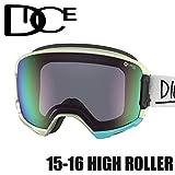 DICE ダイス 16HR-27 HIGH ROLLER M/GREMd WOODY 安心の日本正規品 スノボ スノーボード ゴーグル