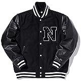 サイズ:S New Era ニューエラ スタジアムジャケット エヌパッチ ブラック ブラック ブラック ホワイト ホワイト 11165620