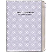 キュービックス 家計簿 クレジットカード 記録帳 ドット パープル 200741-07