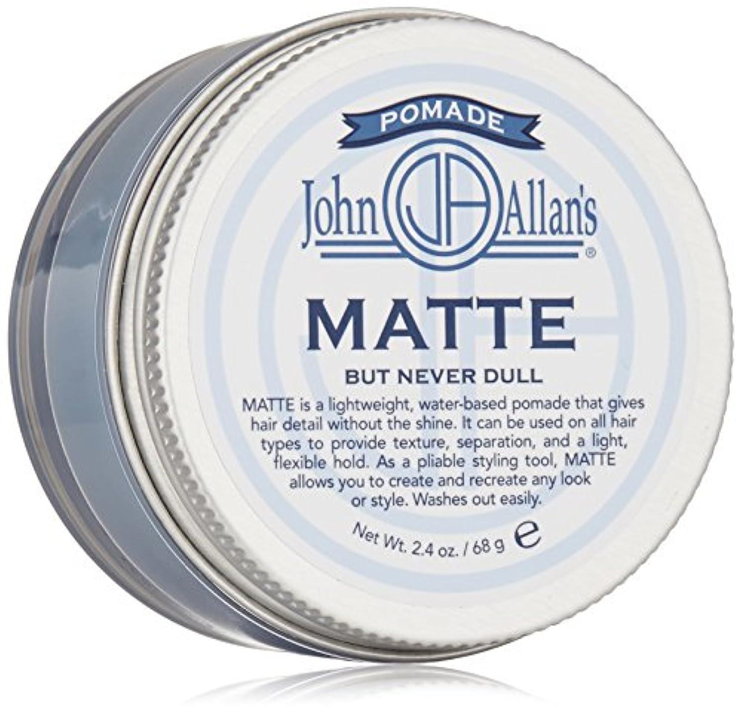 パステルなぞらえる乳剤John Allan: Styling Pomade Matte, 2 oz by John Allan's
