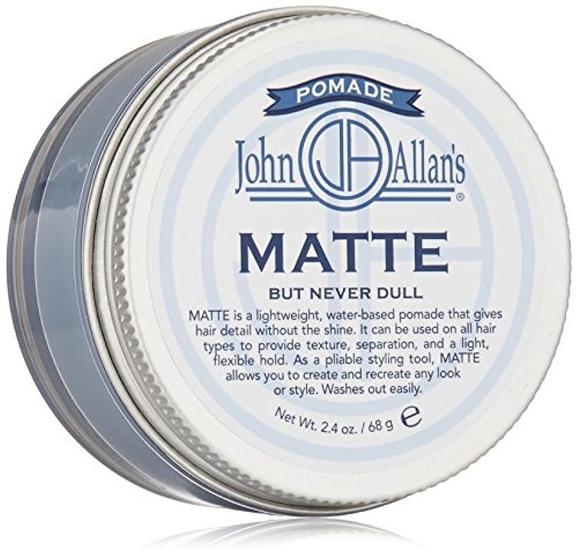 不良通知入力John Allan: Styling Pomade Matte, 2 oz by John Allan's
