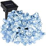 ProGreen ガーデンライトLED 50LED led 桜型 ソーラー充電式 結婚式 クリスマス 屋外 防水 全長7m 光センサー内蔵 DIY (クールホワイト)