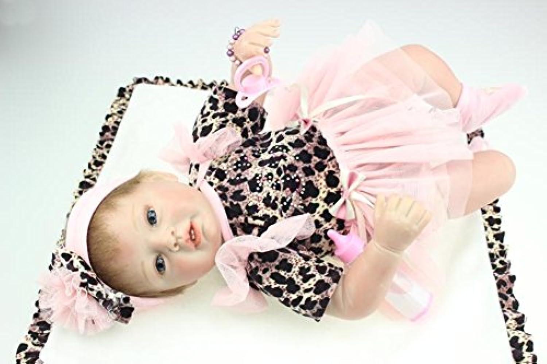 Dollshow 22インチシミュレーションBaby Girl Doll with Open Eyes 55 CMシリコンRebornおもちゃコレクション