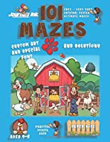 101 Mazes For Kids 1: SUPER KIDZ Book. Children - Ages 4-8 (US Edition). Farm Animals custom art interior. 101 Puzzles with solutions - Easy to Very Hard learning levels -Farmers & Barn -Unique challenges and ultimate mazes book for fun activity time!