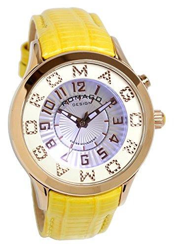 [ロマゴ]ROMAGO 腕時計 ミラーウォッチ スイス製ムーブメント ファッション イエロー レディース 【雑誌掲載モデル】 [並行輸入品]