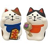 デコレ(Decole) ペア招き猫 白猫 1個サイズ:25×22×h36mm concombre ZCB-92704 2個入