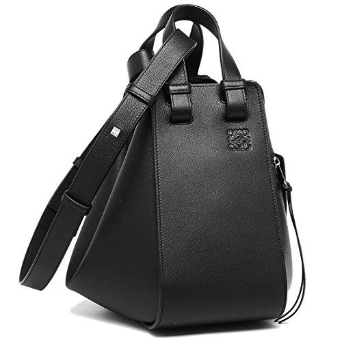 ロエベ バッグ LOEWE 387 30NN60 1100 ハンモック HAMMOCK SMALL BAG レディース ショルダーバッグ 無地 BLACK 黒 [並行輸入品]