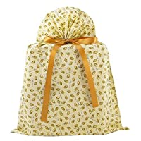 Wedding Rings Reusable Fabric Gift Bag (Ivory,Large 20 Inches Wide by 27 Inches High) [並行輸入品]