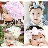 女の子 ベビー用 ヘアーバンド 帽子 4点 セット 赤ちゃん 幼児 衣装