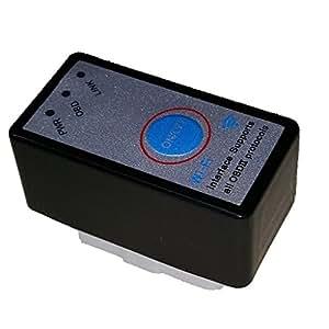 スイッチ付 超小型ELM327 OBD2スキャンツール WiFi版 /日本語マニュアル、保証付