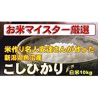 新潟県魚沼産 白米 米作り名人安達さんの作った コシヒカリ 10kg (5kg×2) (検査一等米) 平成29年産