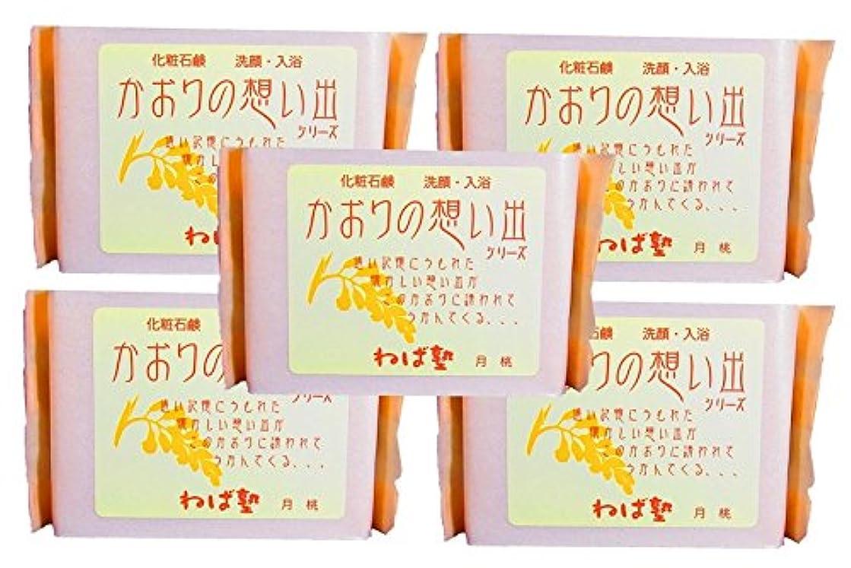 日食化学者嫌がるねば塾 化粧石けん かおりの想い出 月桃90g 5個セット