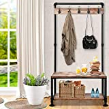 Artiss DIY Rustic Shoe Rack and Hanger
