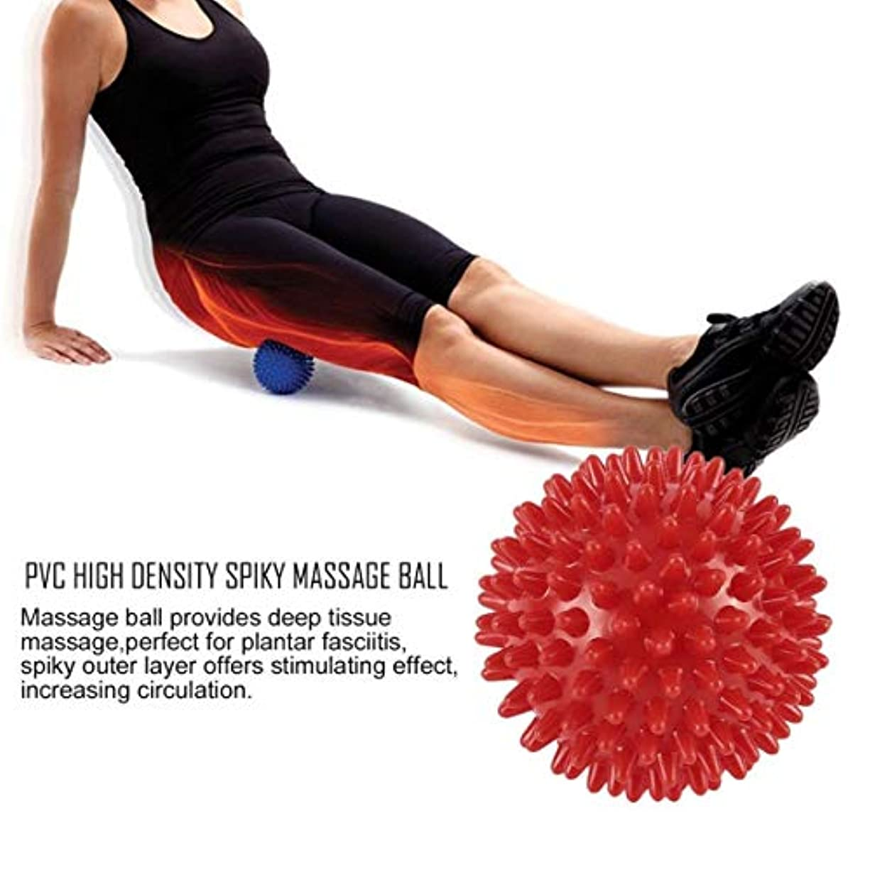 昆虫を見るジーンズ検体PVC High Density Spiky Massage Ball Foot Pain & Plantar Fasciitis Reliever Treatment Hedgehog Ball Massage Acupressure...