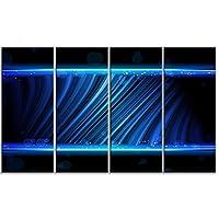 DesignArtディスコブルー波現代アートメタル壁アート–mt6759 48x28 レッド MT6759-271