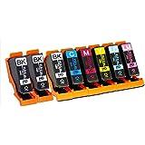エプソン用 KUI 互換 ( クマノミ 互換 ) インクカートリッジ6色 +ブラック2本追加 全8本 インク増量サイズ 対応機種:EP-879AB / 879AW / 879AR / 880AW / 880AB / 880AR / 880AN ヨコハマトナーオリジナル