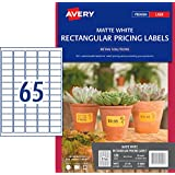 Avery Removable Rectangle Labels for Laser Printers, 38 X 21 mm, 520 Labels (910009 / L7144)