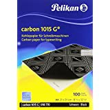 Pelikan Black Graphite Transfer Carbon Paper For Typewriter Tracing on Wood Canvas and Handwriting copy - Pad of 100 sheets