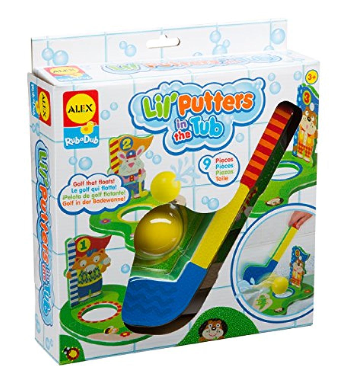 ALEX Toys 浴槽の中のゴルフ用ダブバスマット。