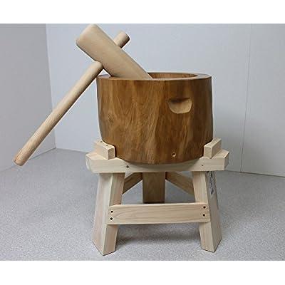 【専用木台付き】北海道天然木製ミニもちつきセット