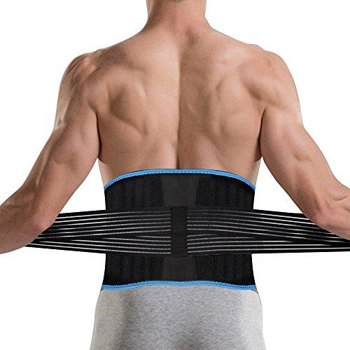 DBPOWER 腰サポーター 腰痛 コルセット 腰痛ベルト お腹 引き締め 加圧ベルト付き 8本弾性ボーン内蔵 腰椎固定 腰痛緩和 男女兼用 胴囲68cm~99cm適用