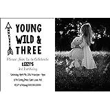カスタム誕生日パーティー招待 – Young Wild and 3つ – フォトオプション