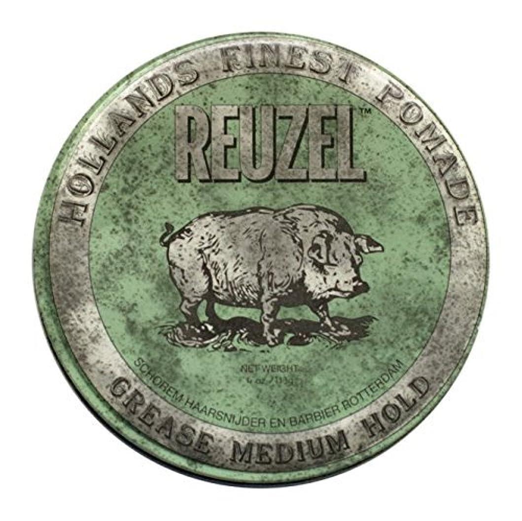 強大なスナップクレタReuzel Green Grease Medium Hold Hair Styling Pomade Piglet 1.3oz (35g) Wax/Gel by Reuzel