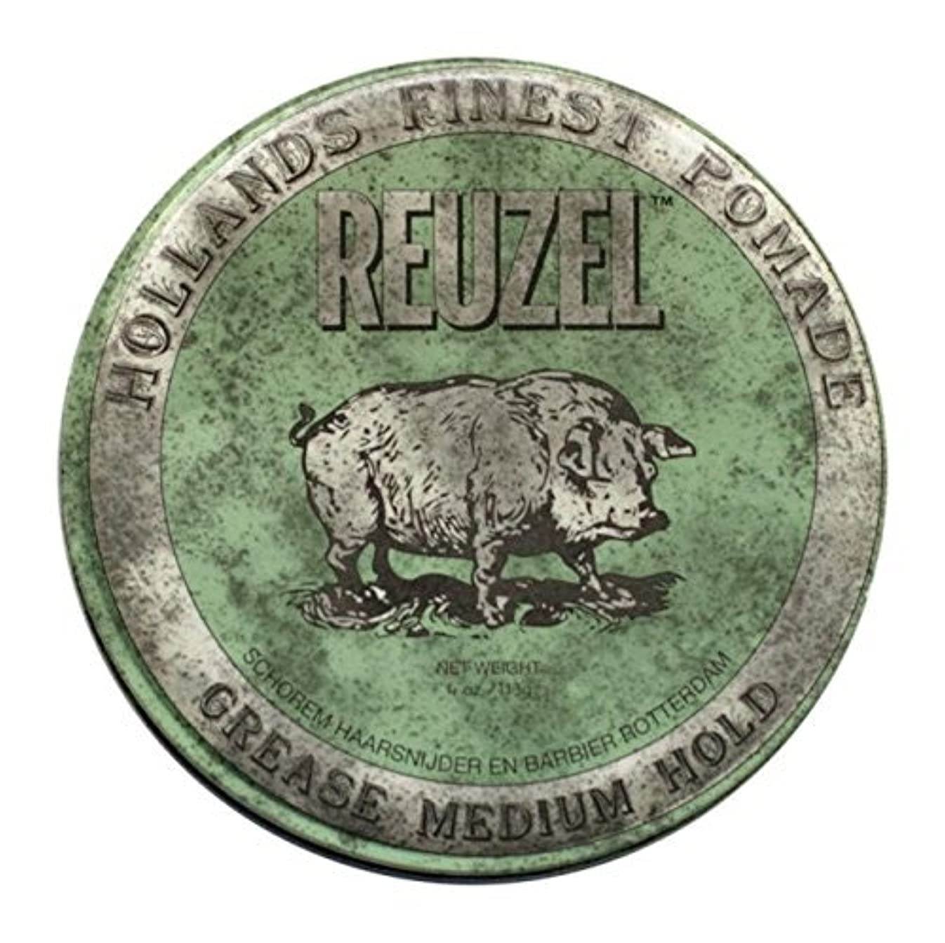 署名宿題意志Reuzel Green Grease Medium Hold Hair Styling Pomade Piglet 1.3oz (35g) Wax/Gel by Reuzel