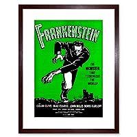 Movie Film Frankenstein Monster Karloff Horror Shelley Gothic Art Framed Wall Art Print 映画膜モンスターホラー壁