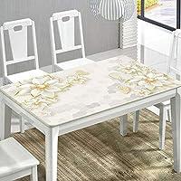 ZXTヨーロッパ家庭用コーヒーテーブル長方形テーブルクロステーブルマット、3DデジタルプリントPVCテーブルクロス、防水と耐油、あらゆる種類の家の装飾に適し、子供のテーブルクロス、さまざまなパターンを選択する (Color : A, Size : 70*70CM)