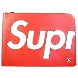 SUPREME シュプリーム ×Louis Vuitton 17AW Pochette Jour GM クラッチバッグ 赤 フリー 並行輸入品