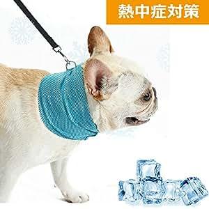 犬用 クールバンダナ ひんやり首輪 スカーフ ネッククール ペット用品 熱中症防止 メッシュ生地 抜群な通気性 小型中型犬や猫兼用 (S)