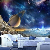 Hxcok パーソナライズされたカスタマイズ3Dステレオ宇宙惑星壁画壁紙漫画子供寝室カフェバーの背景の壁の装飾壁紙-250cmX175cm