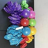 ノブビーバウンシー 5インチボール 120個 3インチポンプスパイクマッサージパーティー ピナータスタッフ 6色 パーティーの記念品 おもちゃ ピニャータ