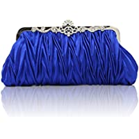 Kingluck Silk Cocktail Evening Handbags/Clutches in Gorgeous Silk More Colors Availabl (blue)